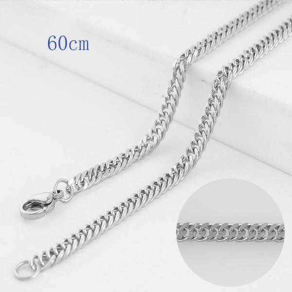 Chaîne de corde fantaisie en acier inoxydable 60CM pour tous les bijoux