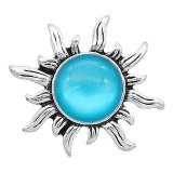 Astilla de diseño 20MM plateada con diamantes de imitación azules KC6596 broches de joyería