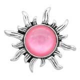 Astilla de diseño 20MM plateada con diamantes de imitación rosa KC6597 broches de joyería
