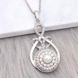 Astilla 20MM chapada con diamantes de imitación coloridos y perlas KC6602 broches de joyería