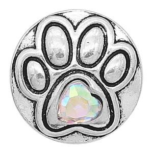 20MM astilla de pata chapada con diamantes de imitación de colores KC6612 broches de joyería