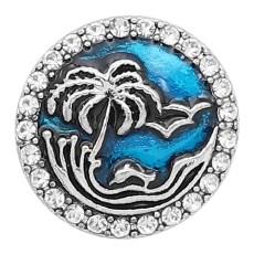 20MM snap sliver Plaqué émail bleu KC6619 s'encliquette bijoux