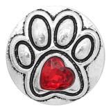 20MM astilla de pata chapada con diamantes de imitación rojos KC6609 broches de joyería