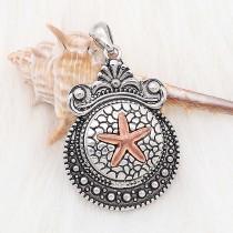 20MM Starfish snap rose-plaqué or KC6623 snaps bijoux