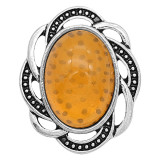 20MM design snap sliver Plated with yellow resin KC6633 snaps jewelry