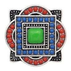 20MM Design-Snap-Splitter Überzogen mit Multicolor-Perlen KC6644-Snaps-Schmuck