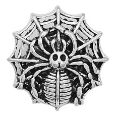 20MM Spider snap sliver Plateado KC6628 broches de joyería