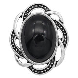 20MM design snap sliver Plated with black resin KC6631 snaps jewelry