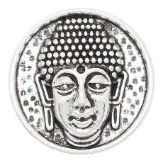 Щепка 20MM с изображением головы Будды, покрытая металлом KC6649