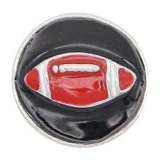 20MMサッカースナップスライバーブラックエナメルメッキKC6654レッド