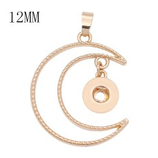 1 buttons 12MM snap gold Pendant fit snaps jewelry KS1306-S