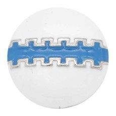 20MM Fußball-Snap-Splitter Überzogen mit blauem Emaille-KC6659-Snap-Schmuck