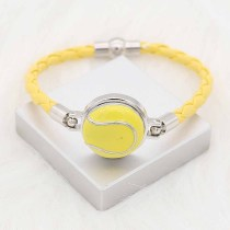 20MM Tennis with yellow enamel snap sliverメッキKC6661スナップジュエリー