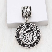 20MM Buddha head snap sliver Plated KC6649 snaps jewelry