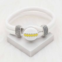 20MM Football snap sliver Plated with  yellow enamel KC6656 snaps jewelry