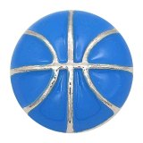 20MM Basketball avec émail bleu composant logiciel enfichable plaqué KC6671 s'enclenche bijoux