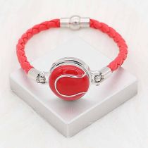 20MM Tennis with red  snap sliver Plated KC6663 snaps jewelry