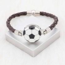 20MM Fußball mit Emaille Snap Splitter Plated KC6664 Snaps Schmuck schwarz