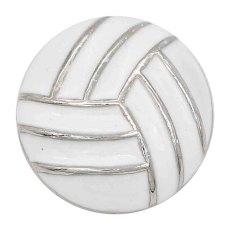 Волейбол 20MM с белой эмалью с защелкой Позолоченные украшения KC6675 на защелках