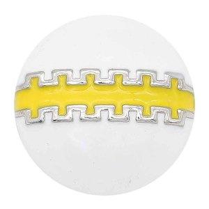 20MM Fußball-Snap-Splitter Mit gelbem Emaille überzogen. KC6656-Snap-Schmuck