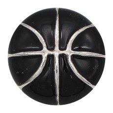 20MM Basketball mit schwarzem Emaille-Snap-Splitter Überzogener KC6672-Snap-Schmuck