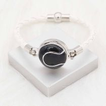 20MM Tennis with black enamel snap sliver Plated KC6662 snaps jewelry