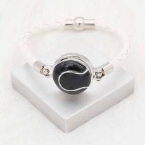 20MM Tennis with black enamel snap sliverメッキKC6662スナップジュエリー