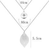 1 botones 20MM collar de plata a presión en forma broches de joyería KC1325