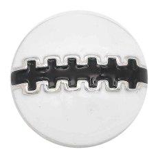20MM Football Snap Splitter Überzogen mit schwarzem Emaille KC6658 Snaps Schmuck