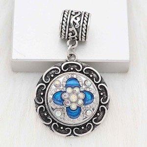 Astilla 20MM chapada con diamantes de imitación azules KC6679 broches de joyería