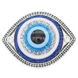 20MM ruban à oeil plaqué avec de la résine bleue KC6653 s'encliquette bijoux