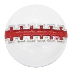 20MM Football Snap Splitter Überzogen mit rotem Emaille KC6660 Snaps Schmuck