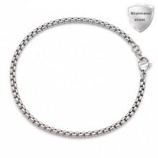 19cm Charm Bracelet Pulseras extensibles de acero inoxidable