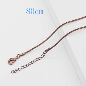 80CM high quality Stainless steel Snake Bronze color Chain necklace