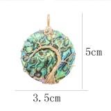 Natürliche Muschel Baum des Lebens Gold Anhänger der Halskette
