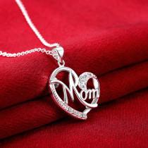 Collier Diamant Cadeau Fête des Mères 46CM