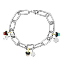 Charm Bracelet Stainless Steel  bracelets fit hole size 2.5MM