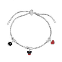 Charm Bracelet Stainless Steel Adjustable bracelets fit hole size 2.5MM