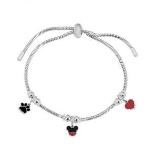 Bracelet à breloques en acier inoxydable Les bracelets réglables s'adaptent à la taille du trou 2.5MM