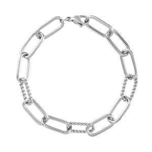 Bracelet à breloques en acier inoxydable pour les trous de 2.5 mm