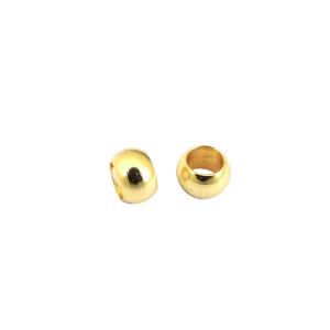4 types de perles de fixation en acier inoxydable de taille de trou de 2.5 mm Partnerbeads