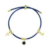 Charm Leather gold Bracelet Acero inoxidable Las pulseras ajustables se ajustan al tamaño del orificio 2.5MM