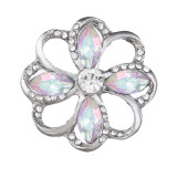20MM design snap Silver Plated With colorful rhinestones charms KC9436 snaps jewerly