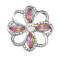 20MM design snap Silver Plated With colorful rhinestones charms KC9437 snaps jewerly
