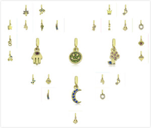 22 types de perles Partnerbeads en acier inoxydable de 2.5 mm d'or