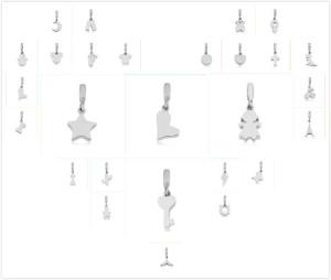 35 types de perles Partnerbeads en acier inoxydable de 2.5 mm
