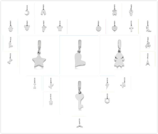 35 tipos Partnerbeads Tamaño de orificio de acero inoxidable Cuentas de 2.5 mm