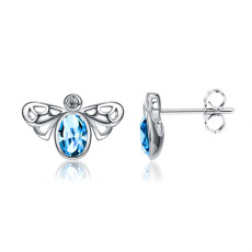 Pendientes de cristal Swarovski element fashion bee