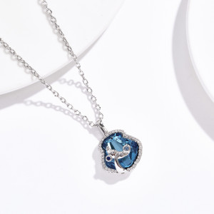 Collier pendentif dauphin Swarovski Element Fashion