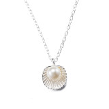 Shell pearl fashion fashion silver necklace